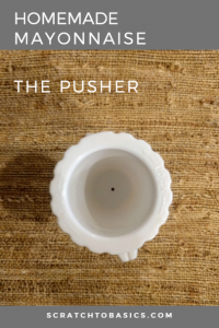 The pusher in a food processor makes the process of making mayo so simple!