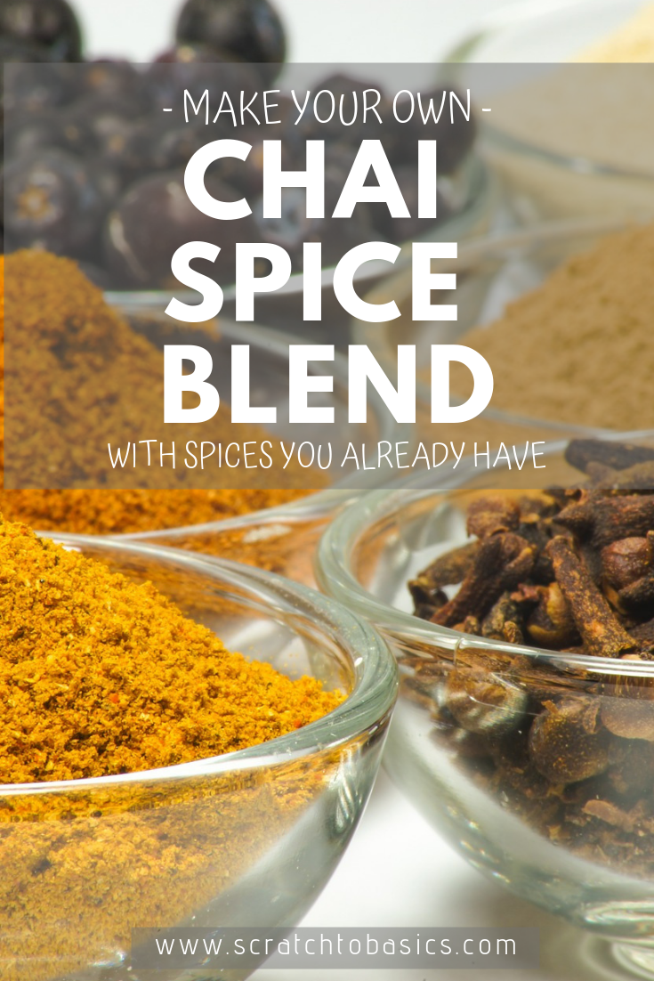 Make your own chai spice blend with spices you already have